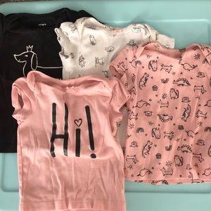 Set of 4 Carter's size 12 months t-shirts.